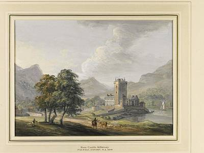 Killarney Painting - Ross Castle And The Lakes by MotionAge Designs