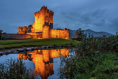 Photograph - Ross Castle At Twilight In Killarney Ireland by Pierre Leclerc Photography