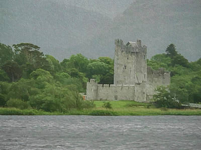 Fortress Mixed Media - Ross Castle  by Teresa Wilson