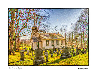 Photograph - Ross Methodist Church by R Thomas Berner
