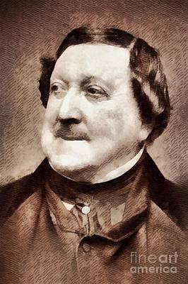Rossini, Composer Art Print by John Springfield
