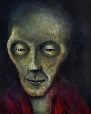 Painting - Roswell Alien by Rick Mosher