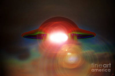 Spacecraft Painting - Roswell by David Lee Thompson