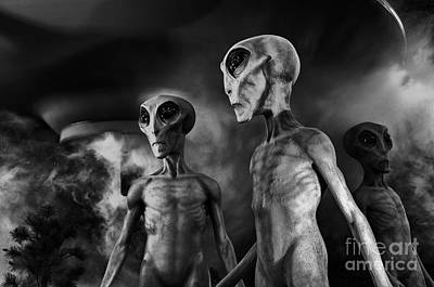 Photograph - Aliens And Ufo 1 by Bob Christopher