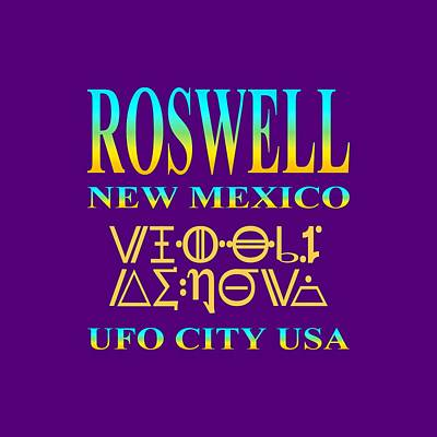 Tapestry - Textile - Roswell New Mexico Aliens Design - U. F. O. City U. S. A. by Peter Potter