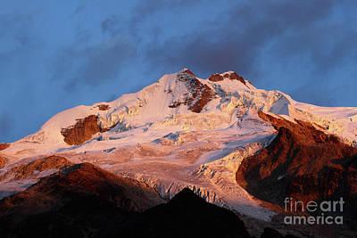 Rosy Dawn Over Mt Huayna Potosi Art Print