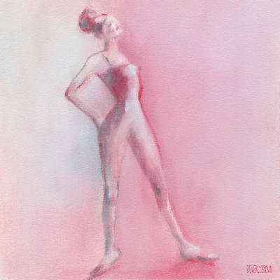 Rosy Pink Ballerina Art Print by Beverly Brown
