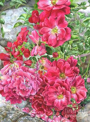 Rosy Red Roses Original by Helen Shideler