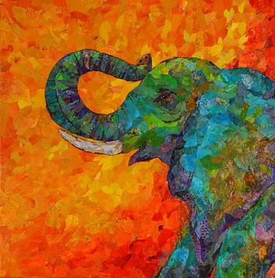 Rosy The Elephant Art Print