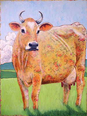 Jersey Cow Painting - Rosy The Jersey by Ande Hall