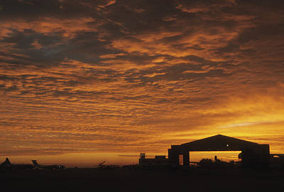 Photograph - Rota Spain Flightline Sunrise by Guy Whiteley