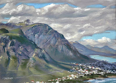 Mountain Painting - Rotary View by Christopher Reid