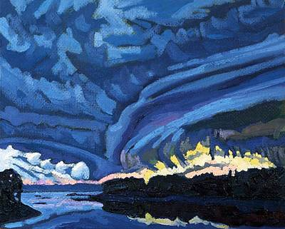 Thousand Islands Painting - Rotating Updraft by Phil Chadwick