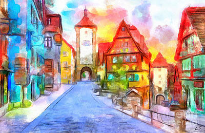 Painting - Rotenburg by Sergey Lukashin