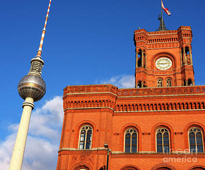Photograph - Rotes Rathaus by John Rizzuto