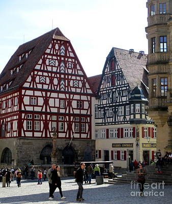 Photograph - Rothenburg 22 by Randall Weidner