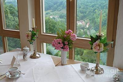 Photograph - Rothenburg Dining With A View by Carol Groenen