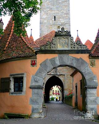 Photograph - Rothenburg Gate by Carol Groenen