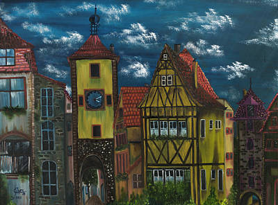 Painting - Rothenburg Ob Der Tauber by The GYPSY And DEBBIE