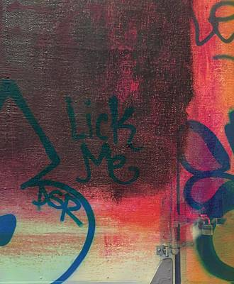 Rothko Detail And Lick Me  From Manhattan And Long Island City Art Print by Maria Padgett