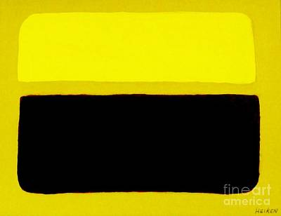 Print Like Painting - Rothko Like Brown On Yellow by Marsha Heiken