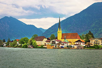 Photograph - Rottach Egern On Tegernsee Architecture And Nature View by Brch Photography
