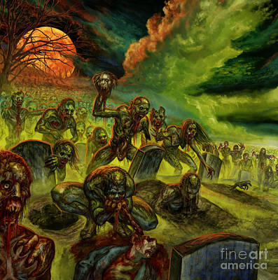 Rotten Souls Taint The Land Art Print by Tony Koehl