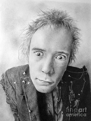 Johnny Rotten Drawing - Rotten by Stuart Attwell