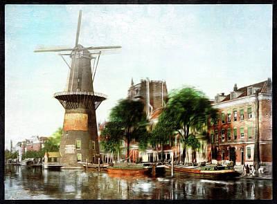 Photograph - Rotterdam, Holland - Remastered by Carlos Diaz