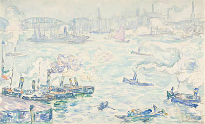 Drawing - Rotterdam by Paul Signac