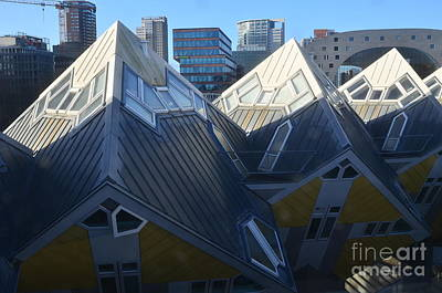 Photograph - Rotterdam - The Cube Houses And Skyline by Carlos Alkmin