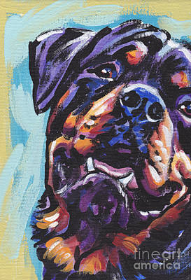 Rottweiler Painting - Rottie Power by Lea S