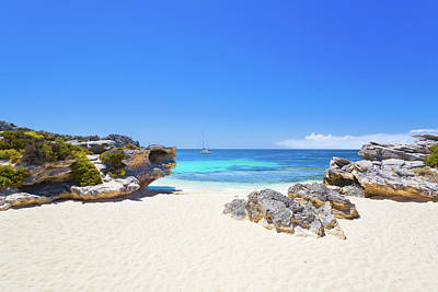 Photograph - Rotto Paradise, Little Parakeet Bay, Rottnest Island by Dave Catley