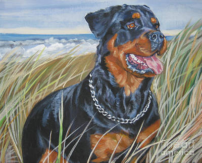 Painting - Rottweiler Beach by Lee Ann Shepard