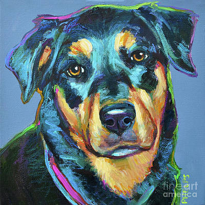 Painting - Rottweiler  by Robert Phelps