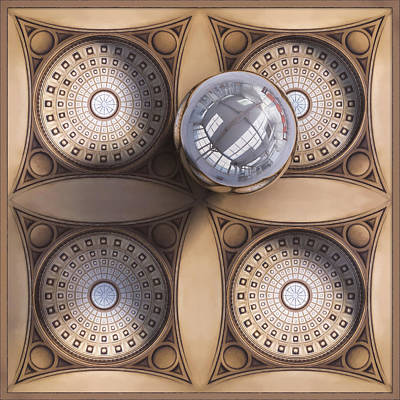 Steampunk Digital Art - Rotunda 4 Ways by Scott Norris