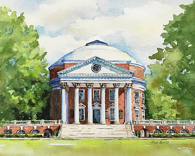 Thomas Jefferson Painting - Rotunda At The University Of Virginia by Jan Finn-Duffy