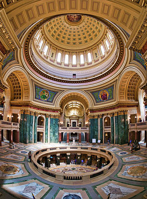 Photograph - Rotunda - Capitol - Madison - Wisconsin by Steven Ralser