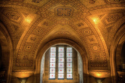 Photograph - Rotunda Ceiling Royal Ontario Museum by Ross Henton