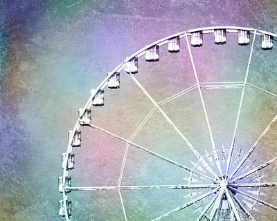Photograph - Roue De Paris - Ferris Wheel In Paris by Melanie Alexandra Price
