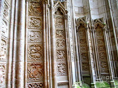 Photograph - Rouen Cathedral 14 by Randall Weidner