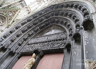 Photograph - Rouen Cathedral 16 by Randall Weidner