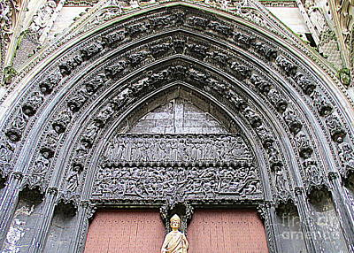 Photograph - Rouen Cathedral 17 by Randall Weidner