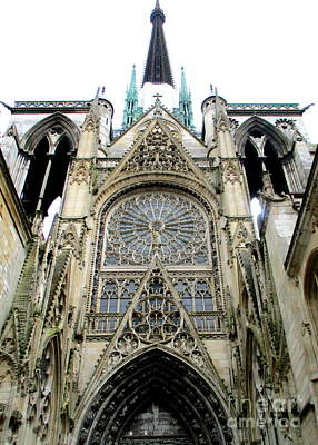 Photograph - Rouen Cathedral 19 by Randall Weidner