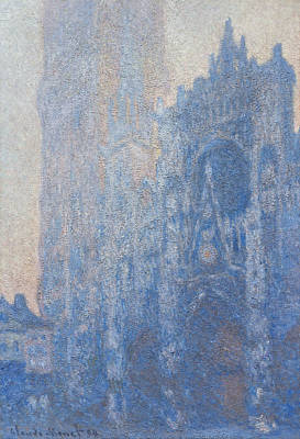 Church Art Painting - Rouen Cathedral Facade And Tour D Albane Morning Effect by Claude Monet