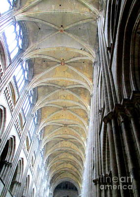 Photograph - Rouen Cathedral Interior 1 by Randall Weidner