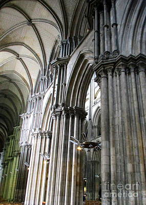 Photograph - Rouen Cathedral Interior 10 by Randall Weidner