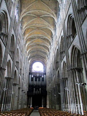 Photograph - Rouen Cathedral Interior 11 by Randall Weidner