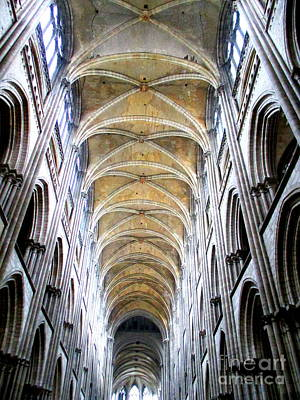 Photograph - Rouen Cathedral Interior 2 by Randall Weidner