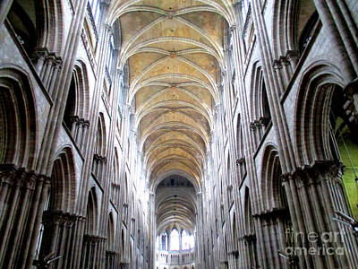 Photograph - Rouen Cathedral Interior 3 by Randall Weidner